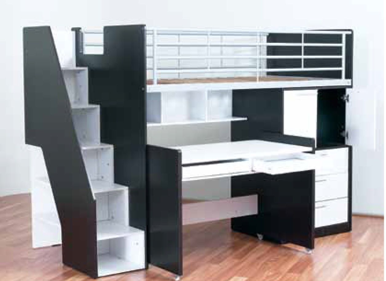 Magnificent Single Bunk Bed With Desk Magnificent Single Bunk