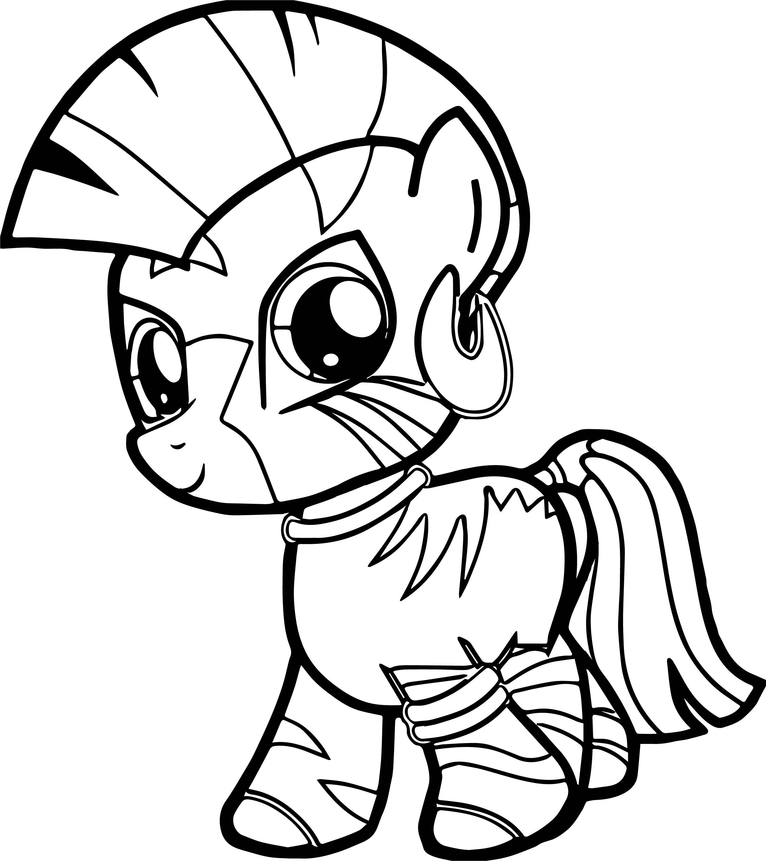 Nice Zecora Filly Very Cute Baby Horse Coloring Page