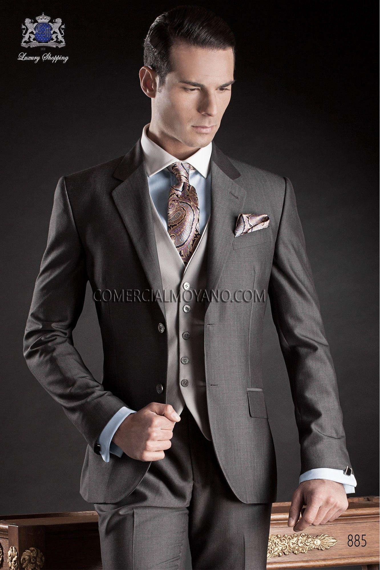 Italienne sur mesure mariage costume gris de style 885 Ottavio Nuccio Gala. 595f332fa05