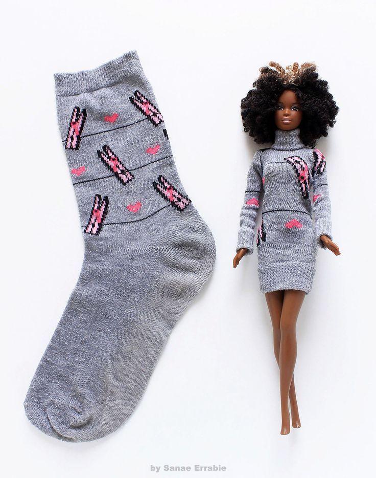 Barbie Kleidung diy - Sanae Errabie #dollaccessories