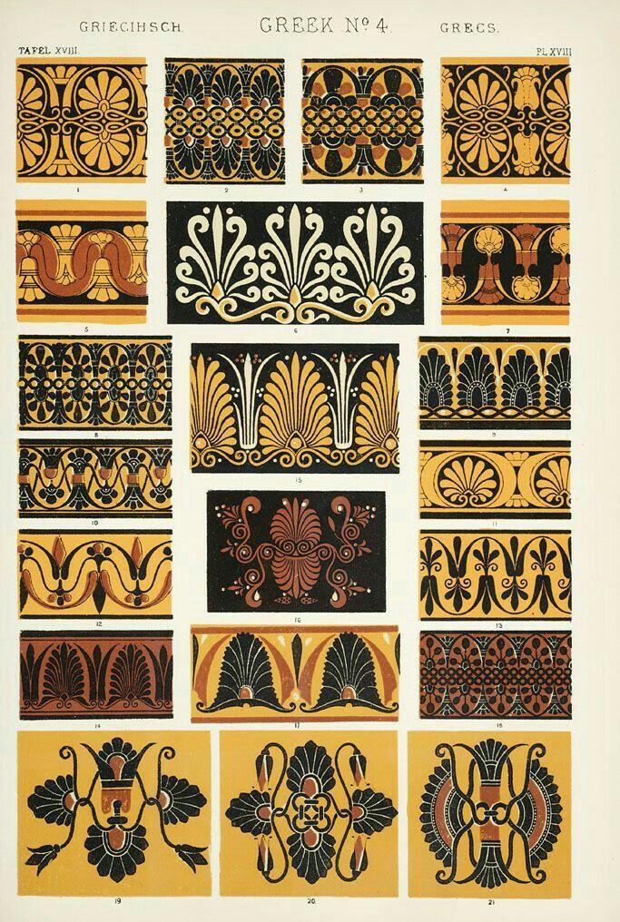 Pin By Hellen Rose On Greek Motifs Greek Ornament Greek Art Greek Patterns