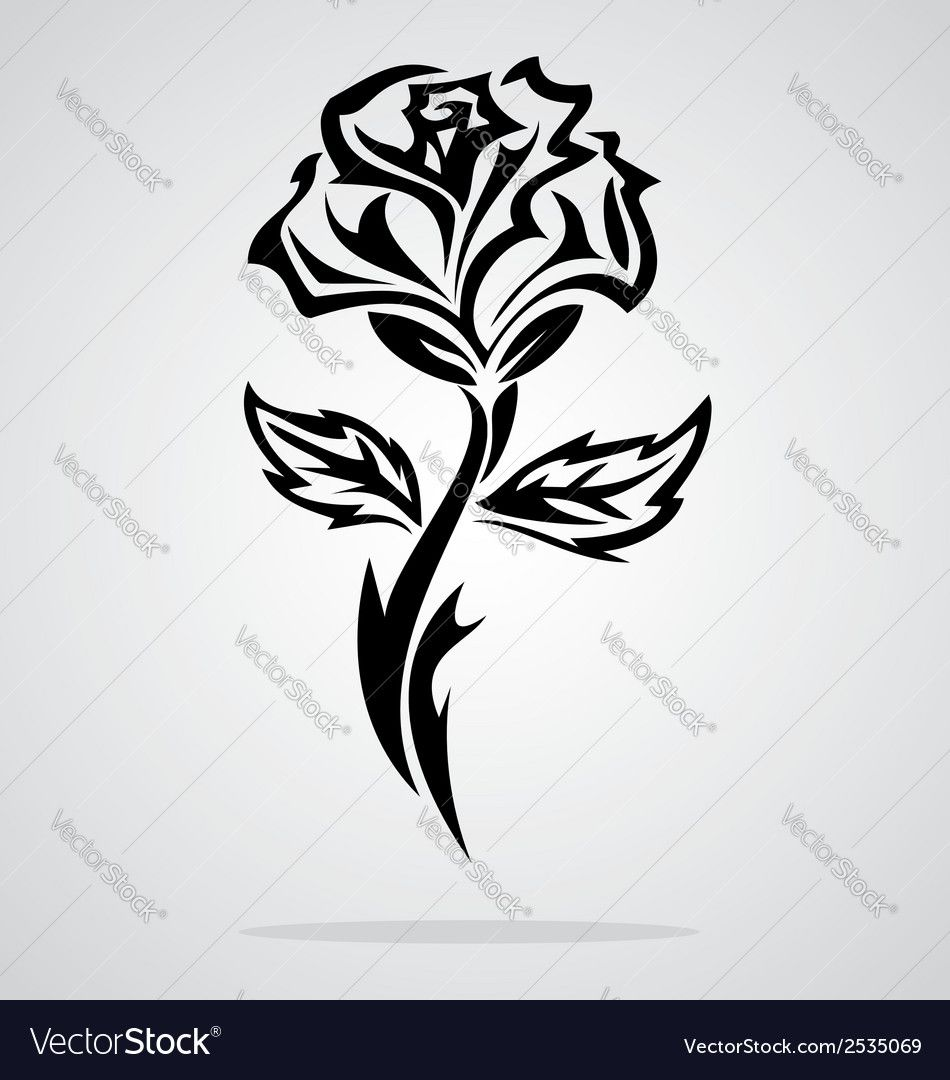 Tribal Rose Vector Image On Desenhos Para Tatuagem Desenhos