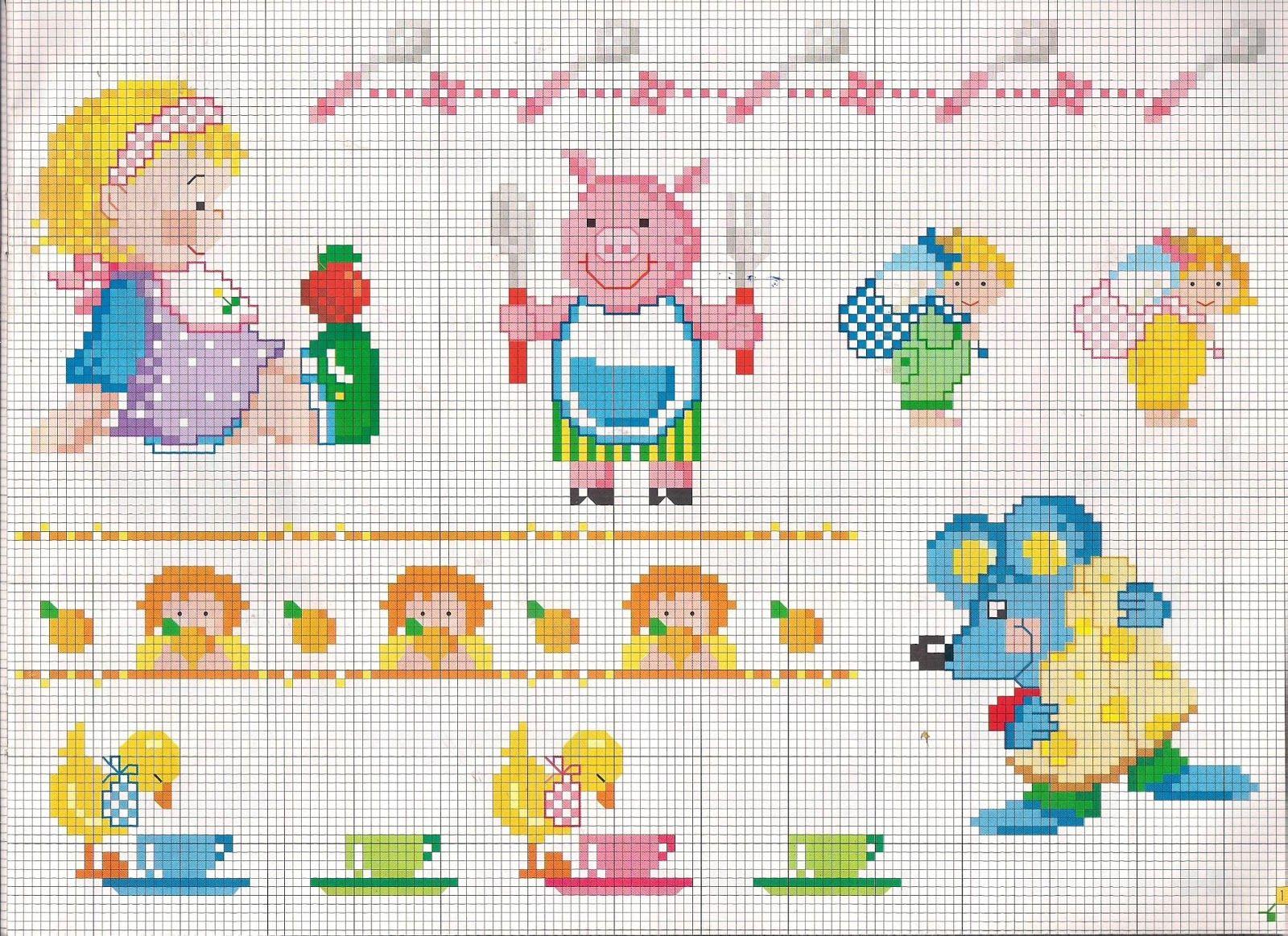 Ricami e schemi a punto croce gratuiti punto croce schemi for Punto croce schemi bambini