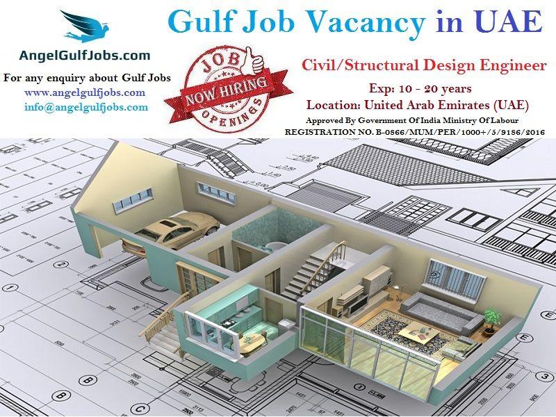 Gulfjobvacancy In Uae Jobsinuaeforfreshers Careers Jobs Angelgulfjobs Position Civil Structural Design E Structural Design Engineer Overseas Jobs Dubai