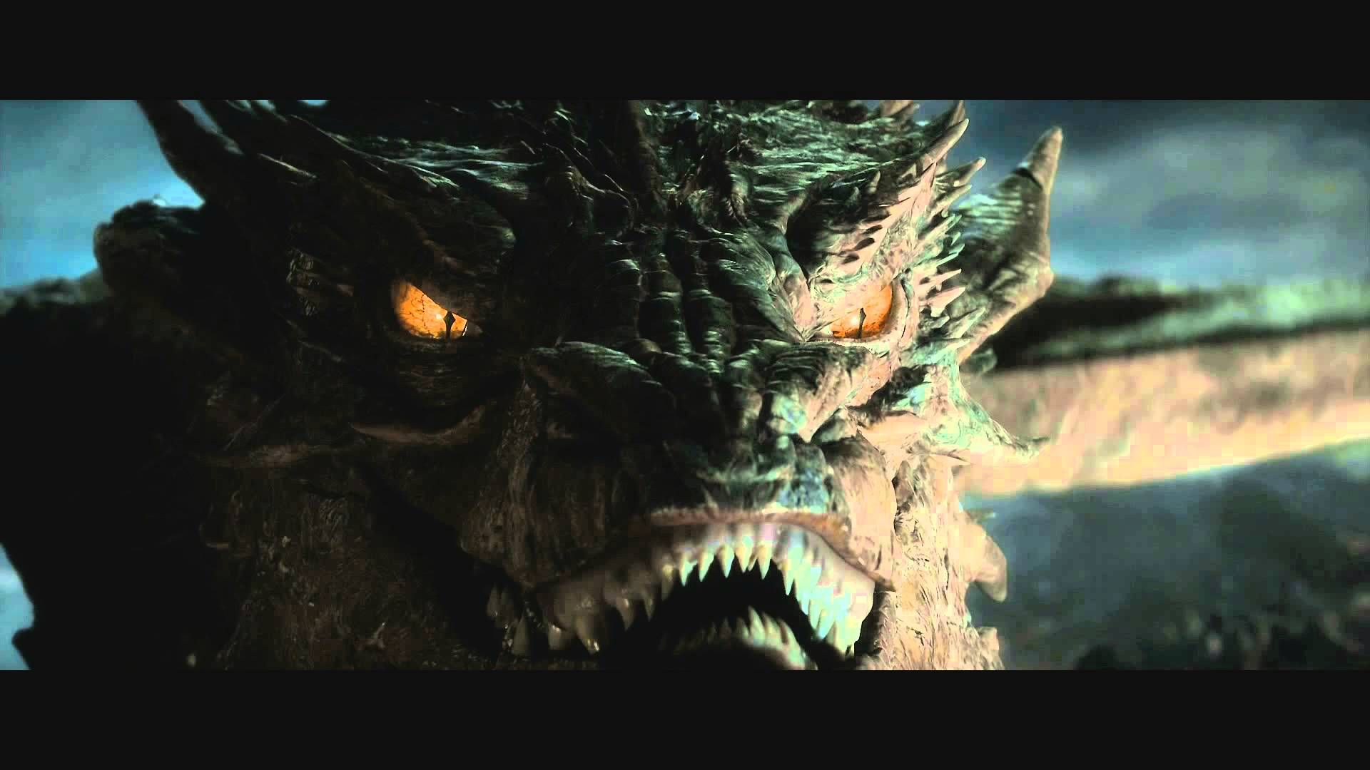 Benedict Cumberbatch as Smaug.   Benedicts voice in all its glory, excluding all the background noises