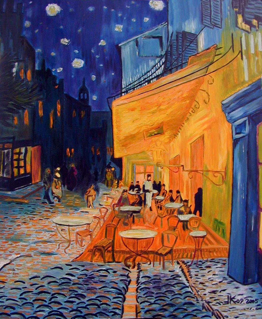 Terrasse De Cafe La Nuit Vincent Van Gogh Art In 2018 Arte