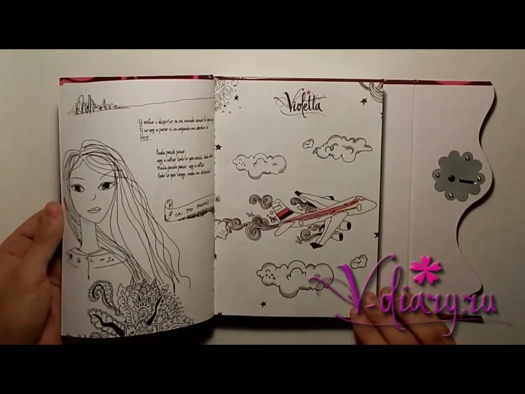 Violetta Original Diary Drawings Diary Journal