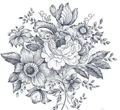 Vintage Black And White Floral Design Temporary Tattoo Mothers Day