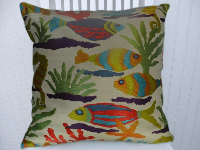 Fish Decorative Pillow Cover Multi Colored Square Pillow Lumbar Enchanting Multicolored Decorative Pillows