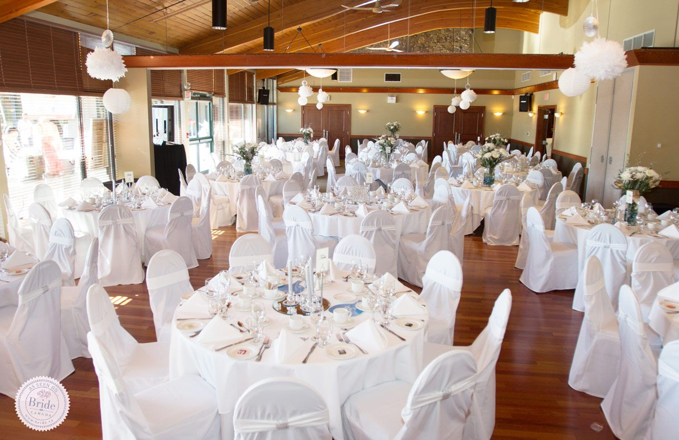 A view of the Coquitlam room at The Vancouver Golf Club in Coquitlam, BC. Suitable for up to 180 guests. As seen on BRIDE.Canada