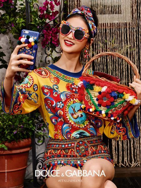 93450ab314 He Cong takes a selfie in Dolce   Gabbana s spring 2016 eyewear campaign