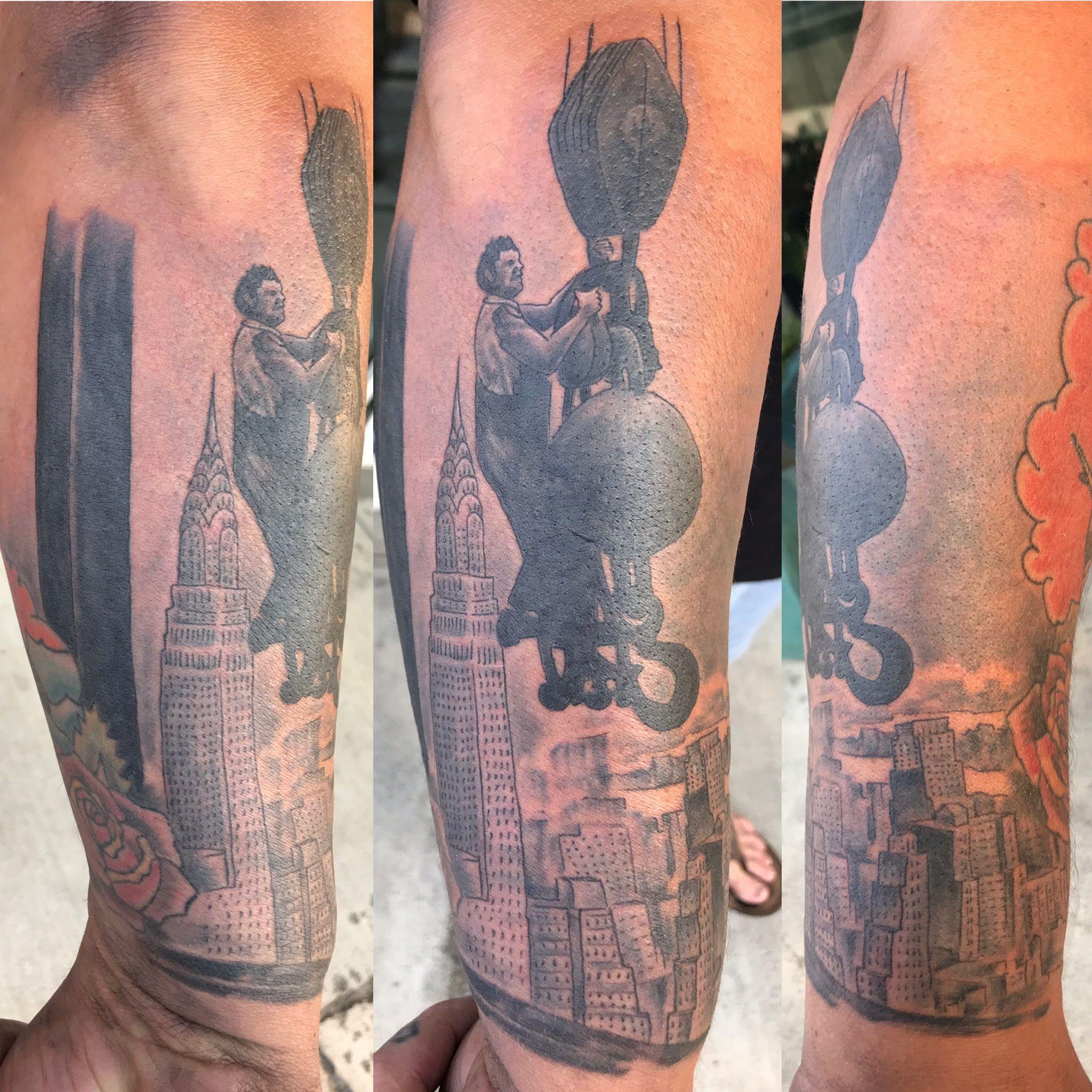 Iron worker tattoo tattoos black and grey tattoos