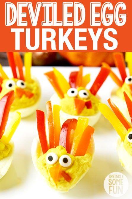 Deviled Egg Turkeys | Recipe | Sprinkle Some Fun ...