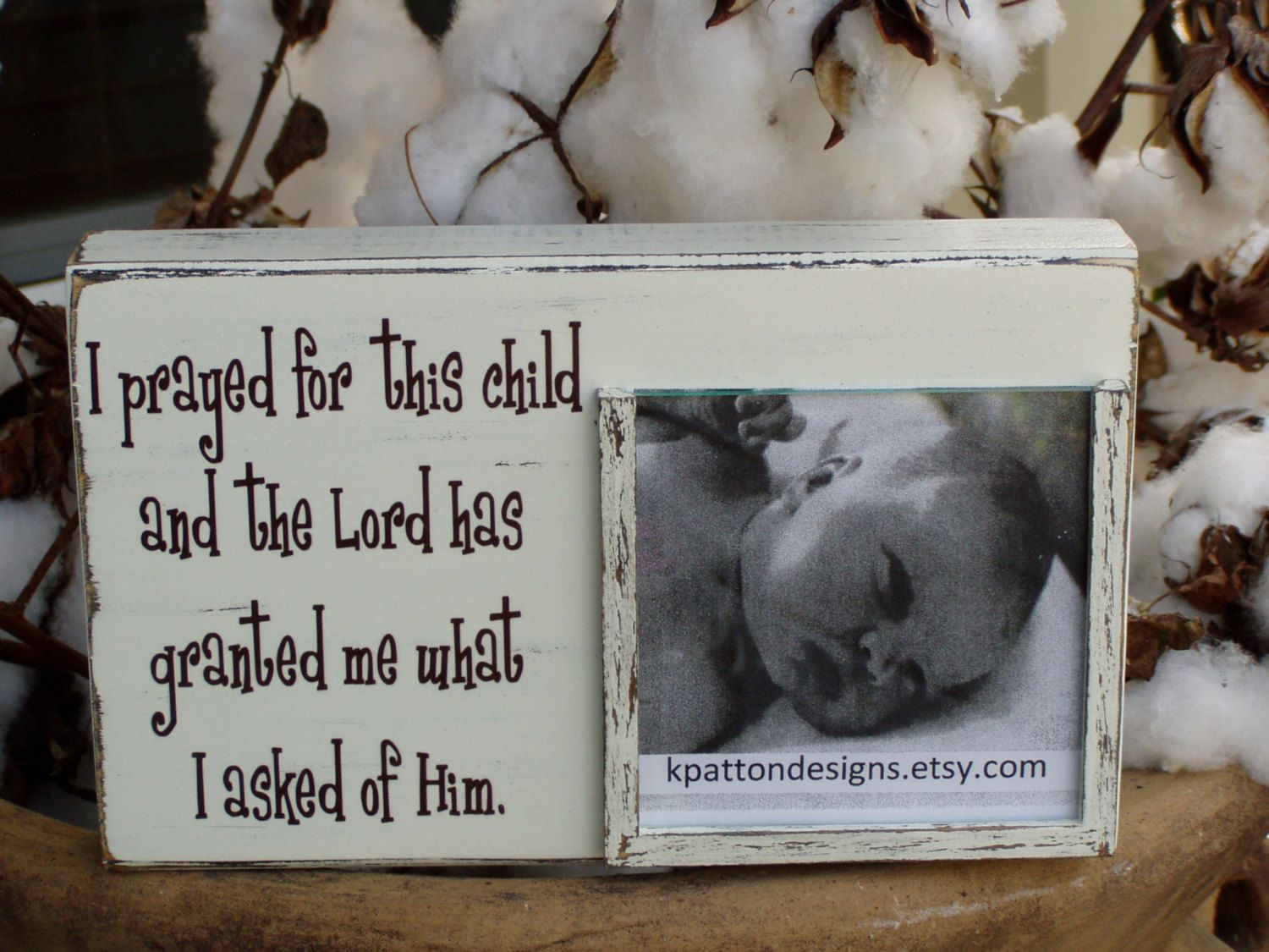 I Prayed For This Child Picture Frame Holds 4x4 Picture 1 Samuel 1