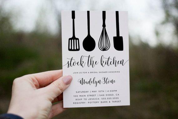 Kitchen shower invitation Stock the Kitchen by lovelypapershop