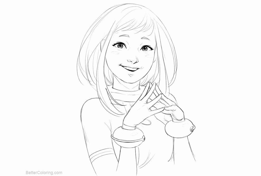 My Hero Academia Coloring Page Best Of Uraraka From Boku No Hero Academia Coloring Pages Free