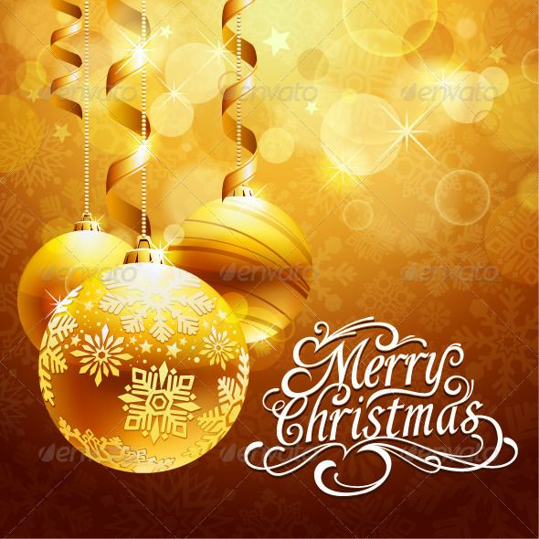 Christmas background | Typography