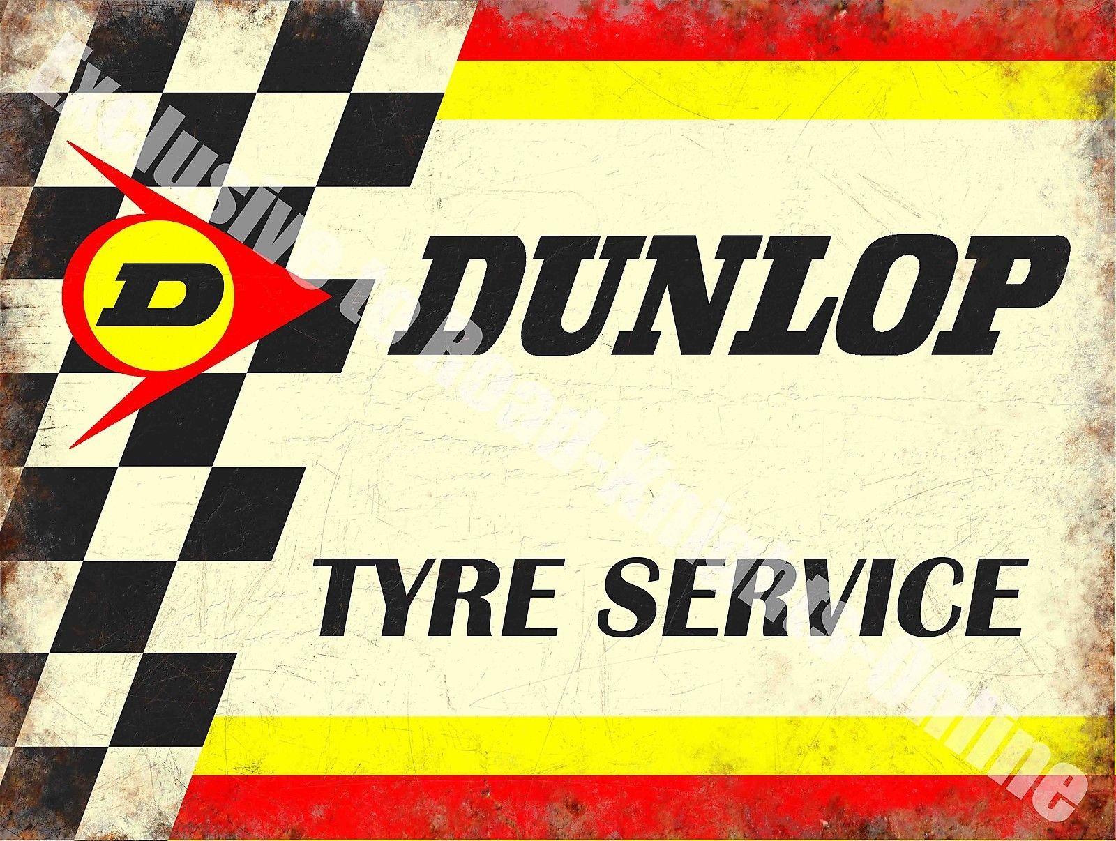 Vintage Garage Dunlop Tyres Motorsport Car 154 Racing Old Large Metal Tin Sign Dunlop Tyres Dunlop Tire [ 1206 x 1600 Pixel ]