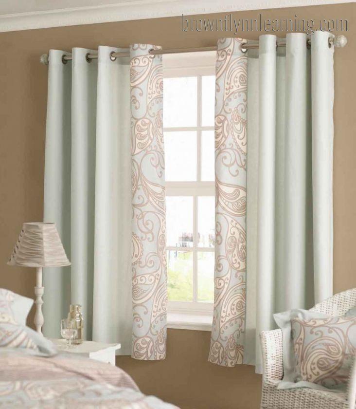 bedroom window curtains short