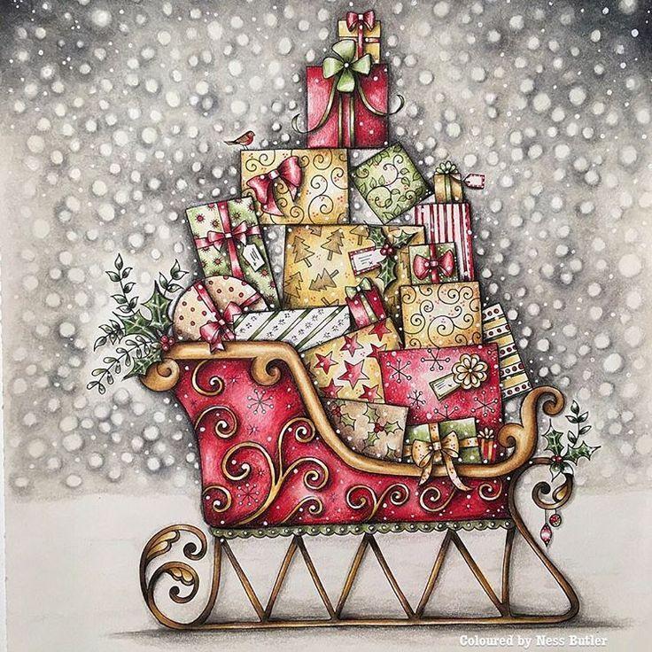 66 Johanna Basford Christmas Coloring Book Tutorial Free