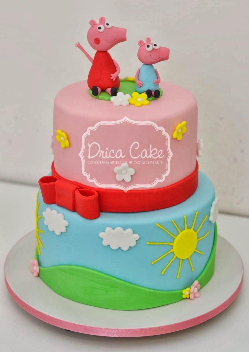 Como Fazer Peppa Pig De Pasta Americana Pesquisa Google Bolos De Aniversario Bolo Cake