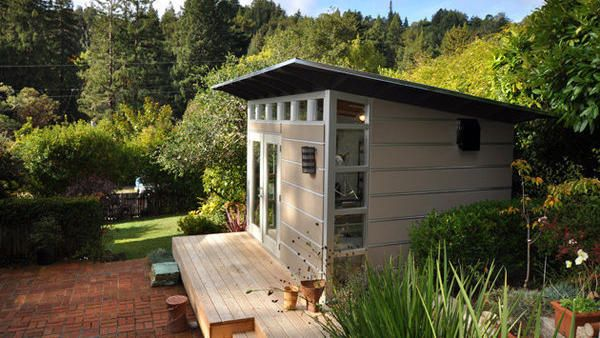 tiny backyard home office. small prefabs as backyard offices tiny home office