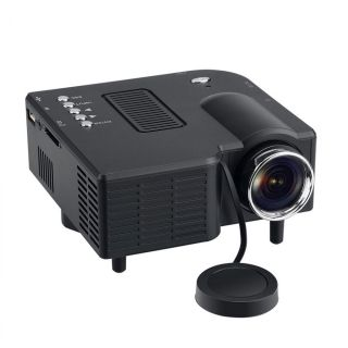 GM40 Mini Multimedia LED Projector Home Cinema AV VGA SD USB HDMI US Plug Black
