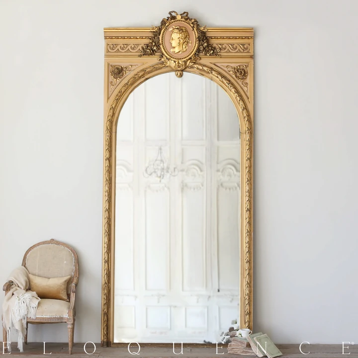 Eloquence Large Antique Gilt Mirror