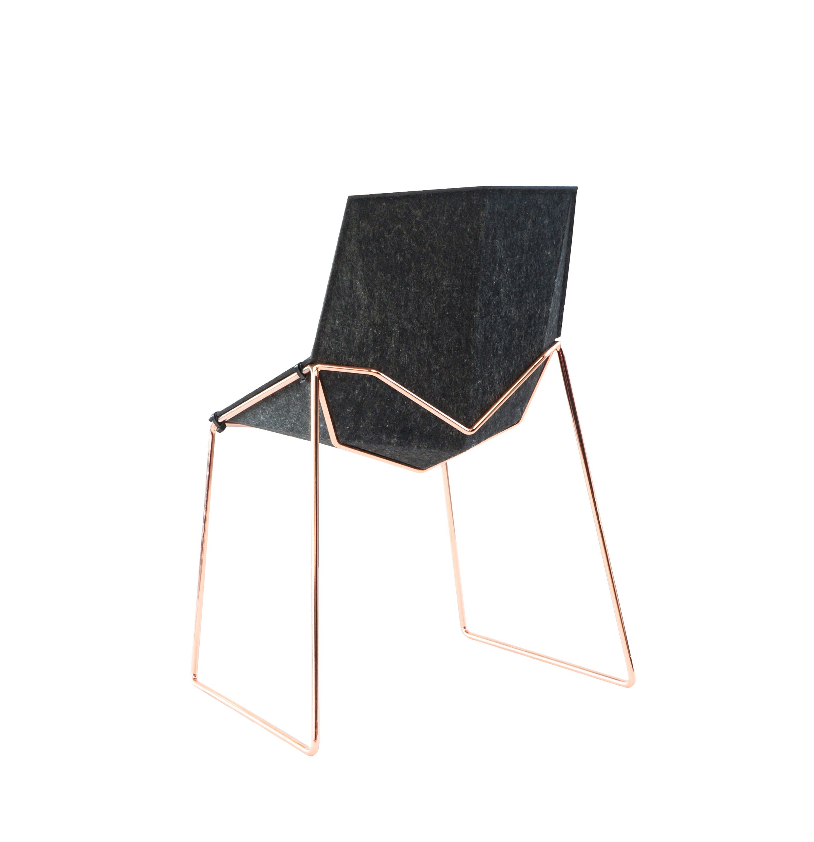 Recycled felt chair NICO LESS beatnikchair