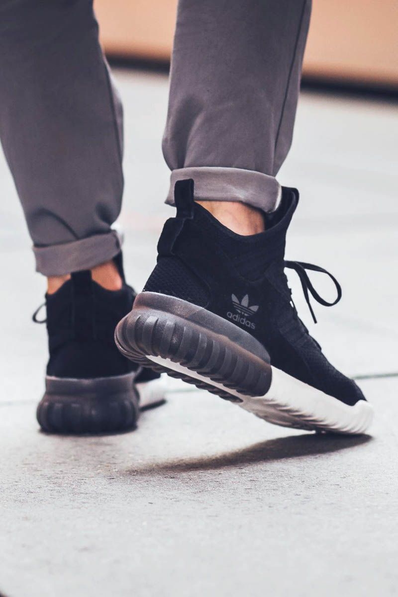 Adidas Tubular Doom Primeknit (Black & Cream White) End