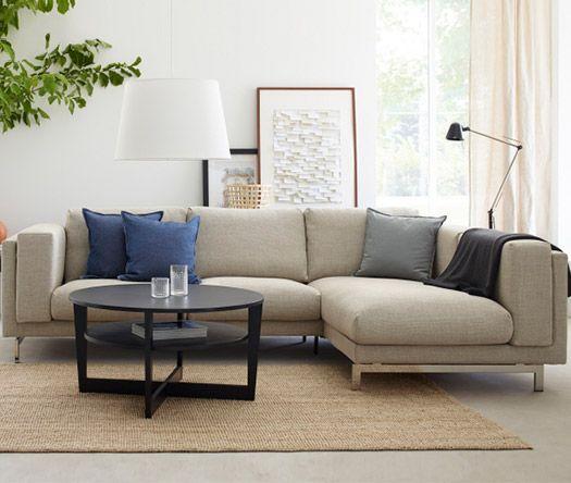 NOCKEBY Breakout wohnen Pinterest Wohnzimmer, Fernsehzimmer - wohnzimmer couch grau