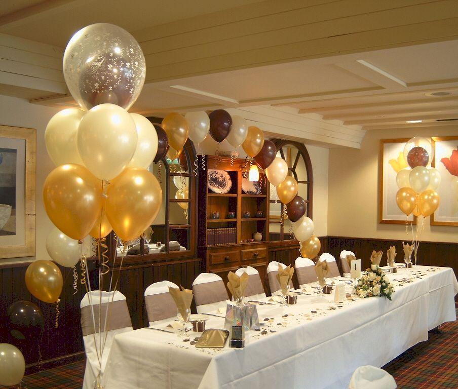 balloon arrangement idea from ukpartypeople.co.uk