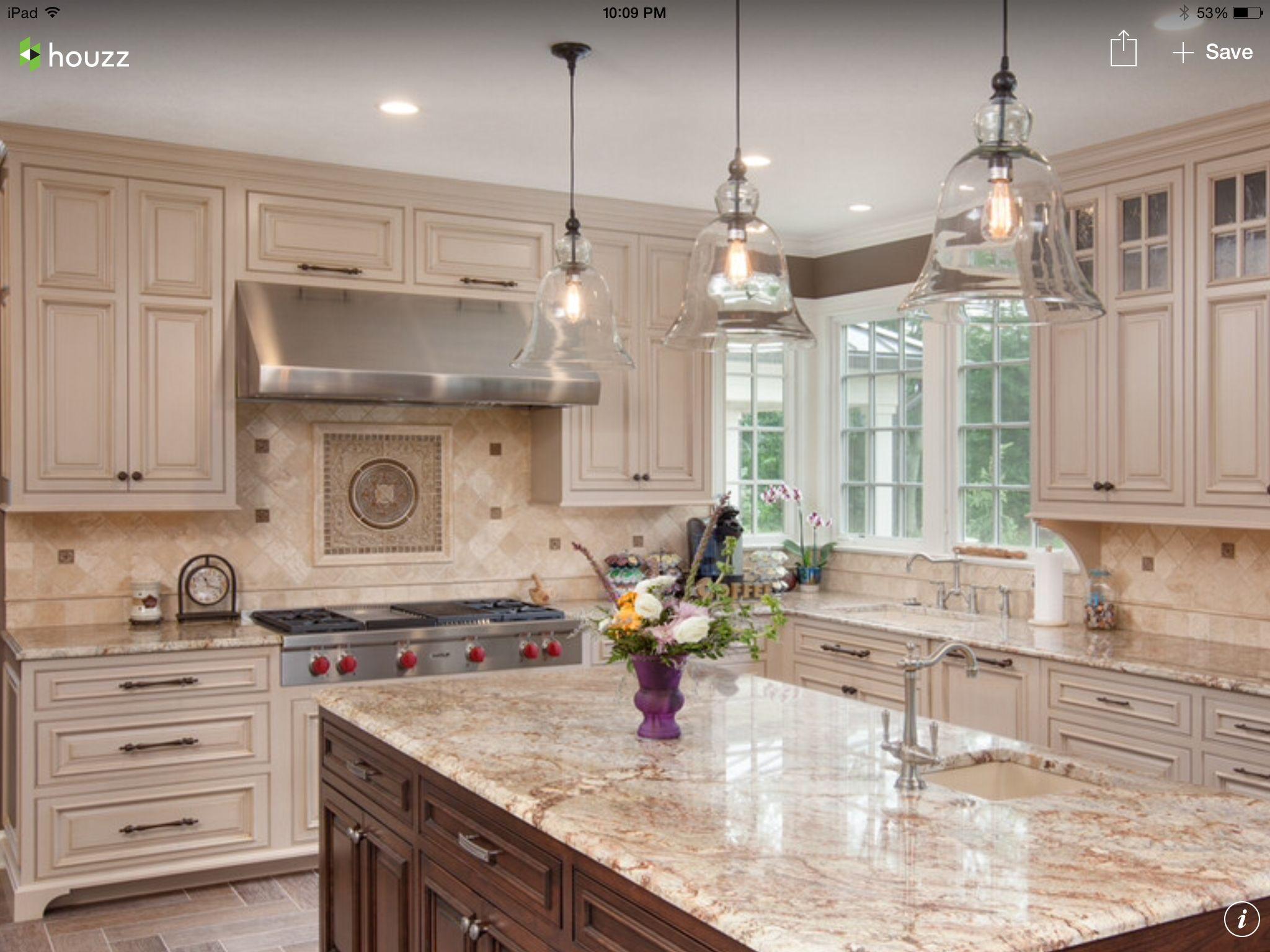 pinmarsha barney on tile backsplash  beige kitchen