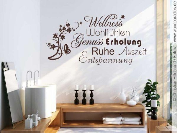 Wandtattoo Wellness Ein Geschmackvolles Motiv Furs Bad Wandtattoos Spruche Wandtattoo Wandtatoos