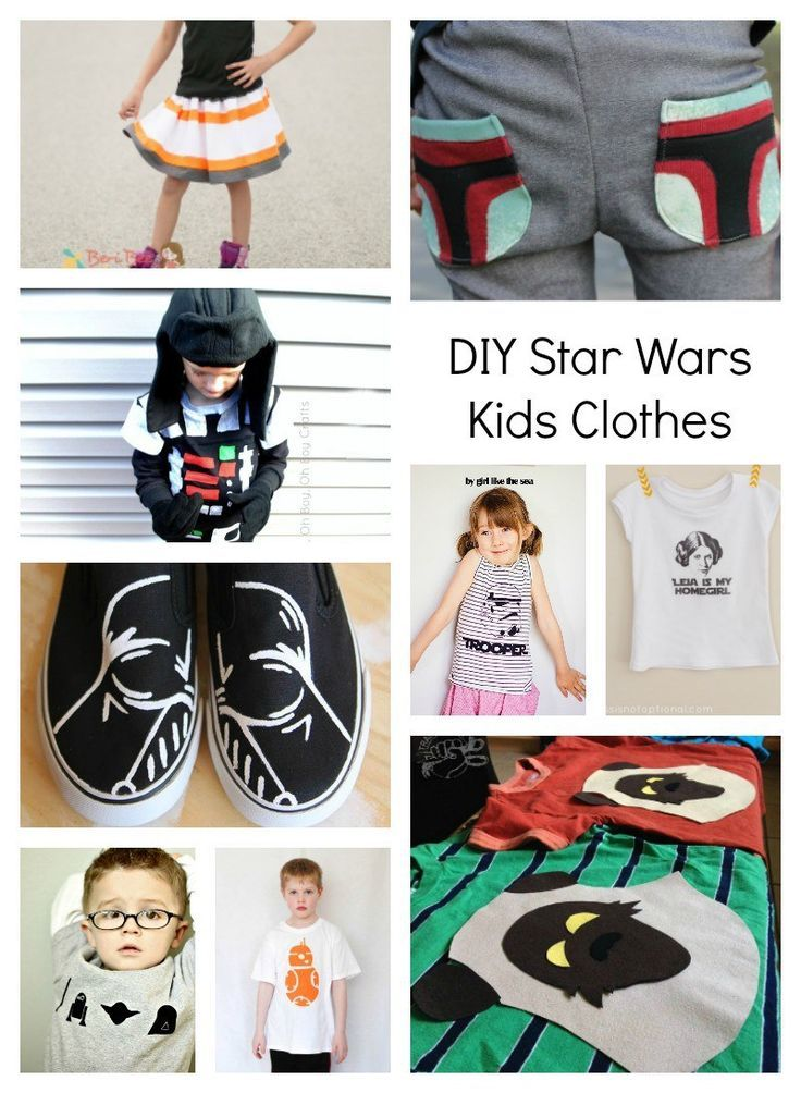 May The Fourth Be With You Day: DIY Star Wars Clothes For Kids ...
