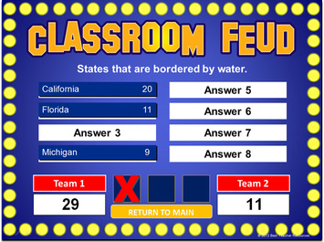 "create your own ""family feud"" style games with this powerpoint, Powerpoint templates"