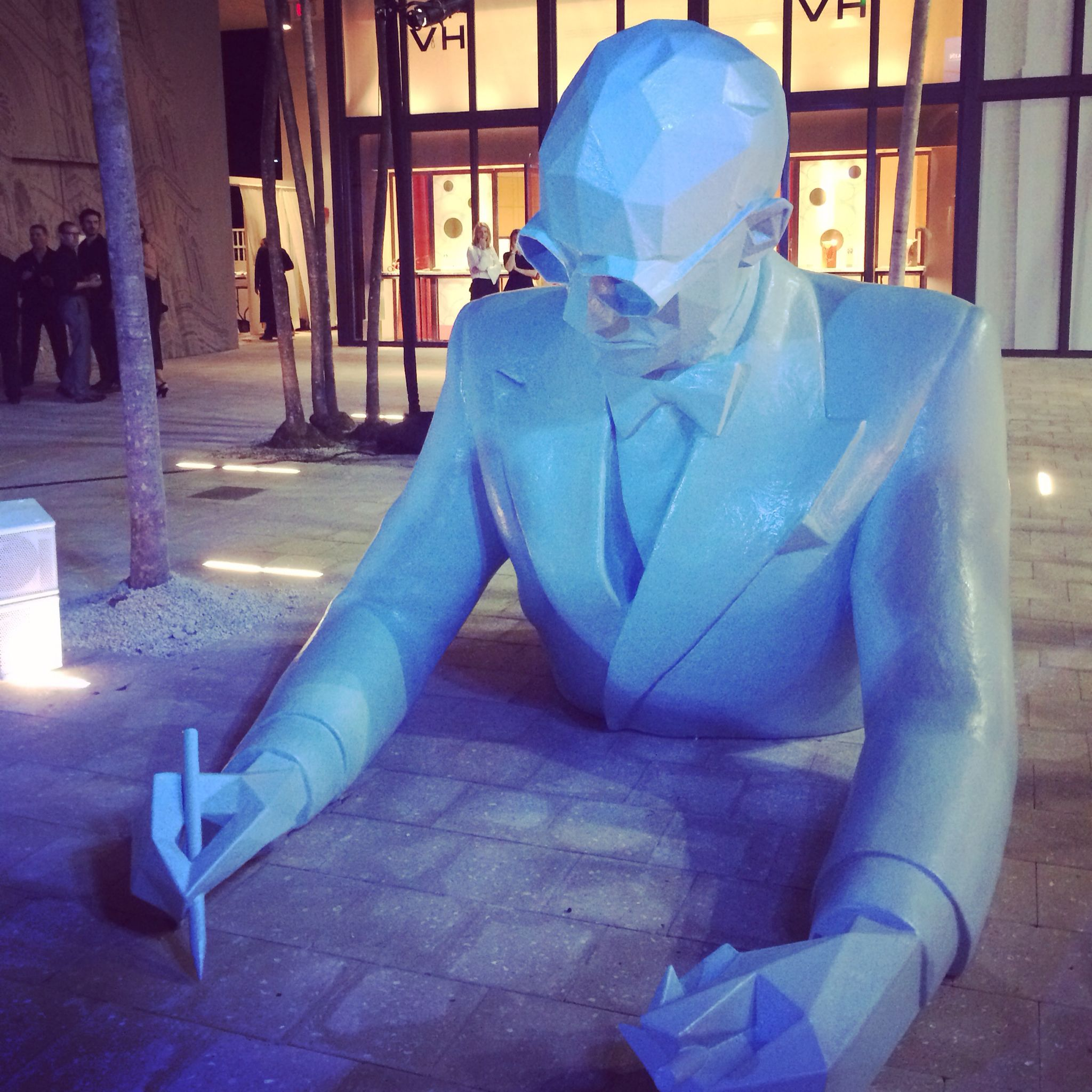 A larger than life Le Corbusier by Xavier Veilhan. #miamidesigndistrict #lecorbusier