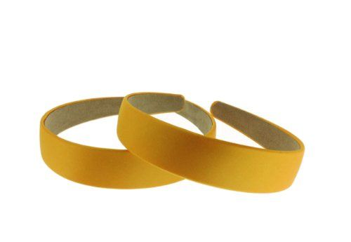 Trimweaver 12Piece 25mm Satin Covered Headband 1Inch Gold ** Read more details by clicking on the image. #Headbands