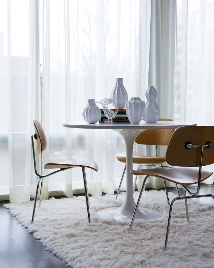 Saarinen Tulip Table And Eames Dcm Chairs Tulip Dining Table