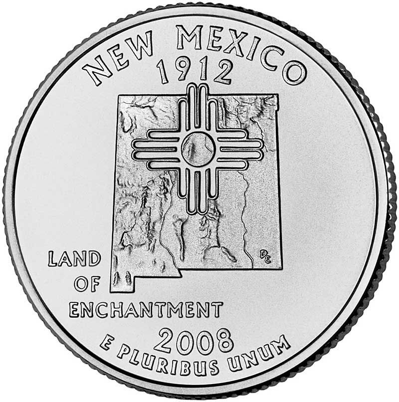 New Mexico State Quarter United States Pinterest Coins Las - Rare us state quarters
