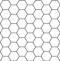 Printable Sheet Of Hexagon Graph Paper Pdf File To Design Your
