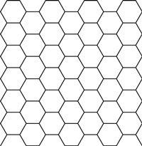 hexagon on graph paper