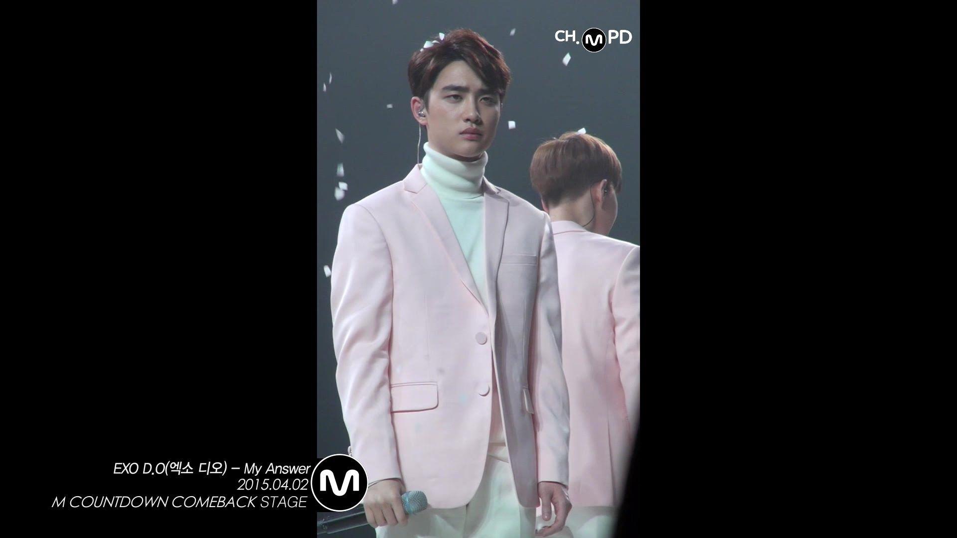 [MPD/Fancam] 150402 EXO D.O(엑소 디오) - My Answer