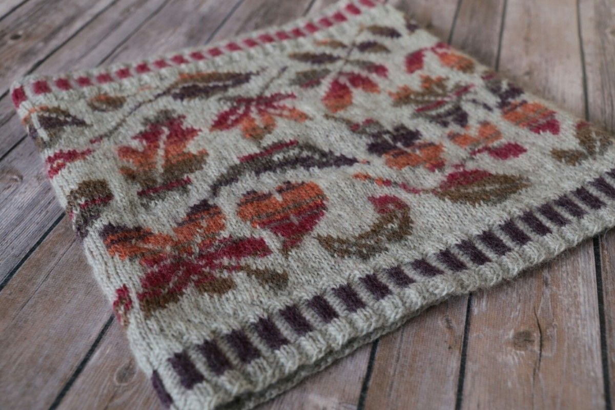 How To Knit A Falling Leaves Cowl | Cosy, Leaves and Brown