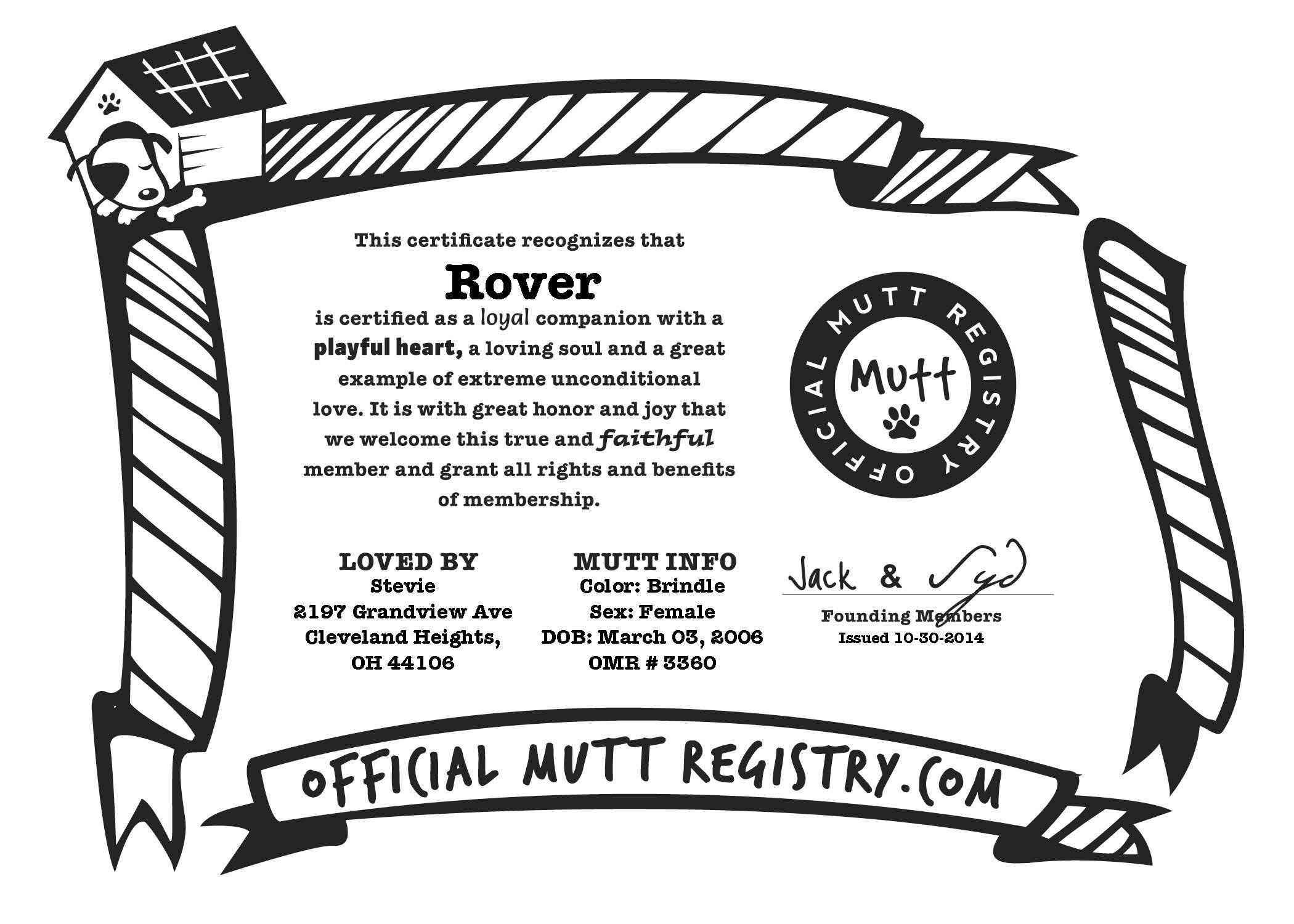 Pet Grooming T Certificate Template