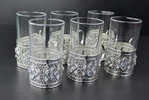 Arabisch Turkisch Tee Kaffee Tassen Gold Silber Set Mit Kristall
