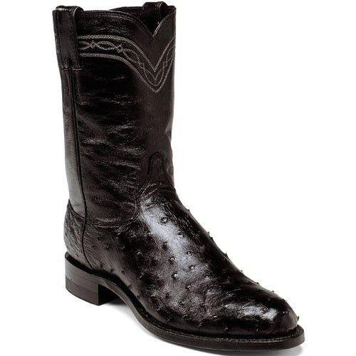 3171 Men S J11 Ostrich Western Justin Ropers Black Www Bootbay Com Roper Boots Boots Justin Ropers