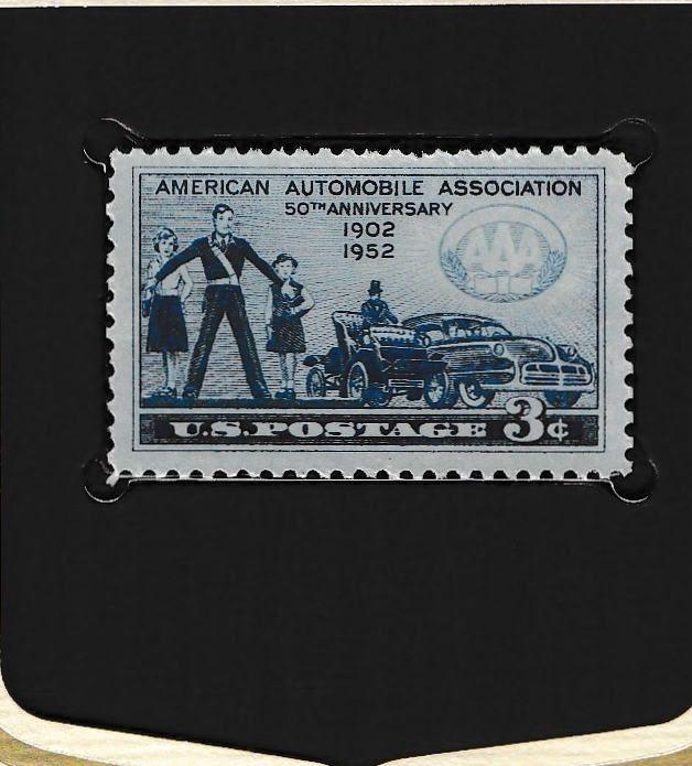 Usps Vintage 1007 American Automobile Association Stamp