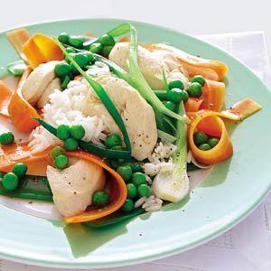 Recept - Gestoomde kip met wortellinten - Allerhande