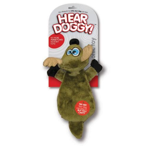 Hear Doggy Ultrasonic No Stuffing Deer Silent Squeaker Toy Dog